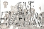 give everything grafiti, used for coupons blog